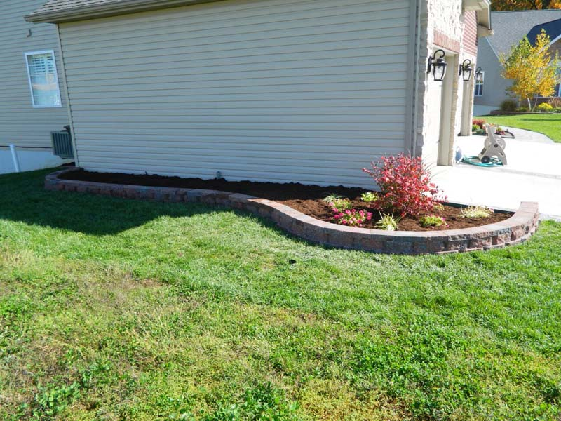 Superior ... Brick Edging Retaining Wall Installation ...