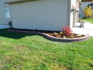 Brick Edging Retaining Wall Installation