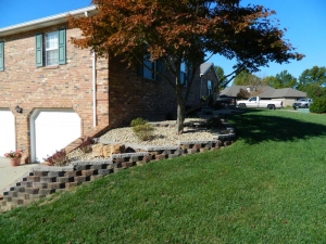 Brick Edging Custom Retaining Wall Design